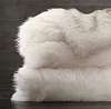 Покрывало меховое EXOTIC FAUX FUR OVERSIZED BED THROW - ARCTIC WHITE MINK Restoration Hardware США