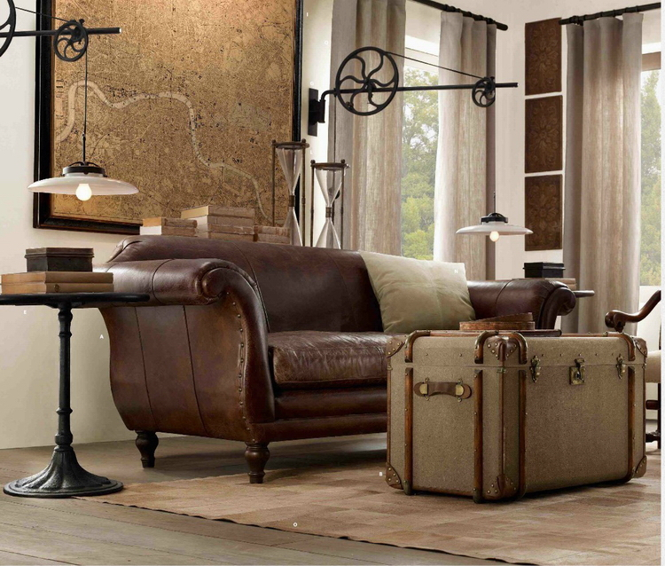 диван в стиле стимпанк фото для