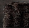 Покрывало меховое EXOTIC FAUX FUR OVERSIZED BED THROW - RUSSIAN BLACK MINK Restoration Hardware США