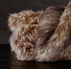 Покрывало меховое EXOTIC FAUX FUR OVERSIZED BED THROW - SIBERIAN RED FOX Restoration Hardware США