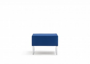 Пуф Modular sitting HOST without backrest, upholstered category G06, chromed frame 203/G06_CR